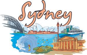 Sydney Vector Doodle