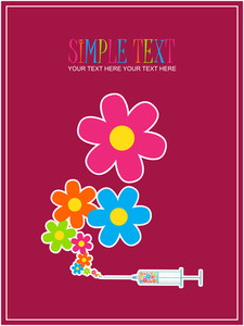 Syringe With Flowers. Abstract Vector Illustration