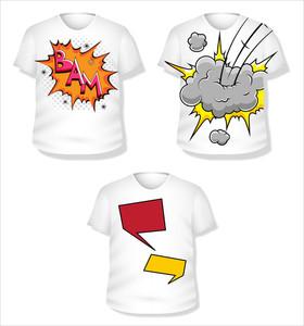 T-shirt Template Vector Set