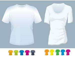 T-shirt Vector Templates.