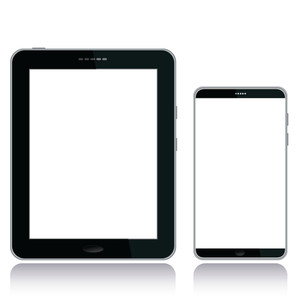 Tablet-pc-and-smart-phone-white
