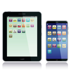 Tablet-pc-and-smart-phone