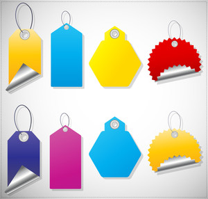 Tags And Labels Vector Designs