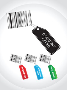 Tags For Summer Discount Sale With Barcodes