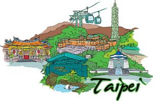 Taipei Vector Doodle