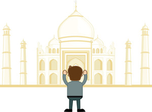 Taj Mahal - Vector Cartoon