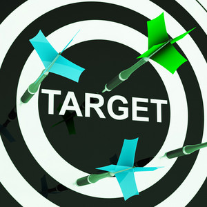 Target On Dartboard Shows Efficient Shooting