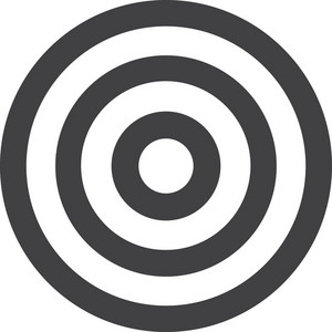 Target Practice Stroke Icon