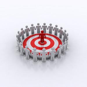 Targeting Success 3d Man Employee Worker