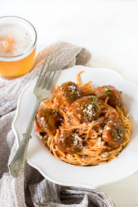 Tasty Meatballs With Spaghetti