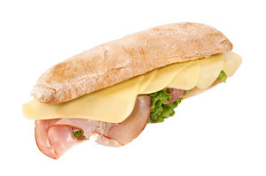 Tasty Sandwich Isolated