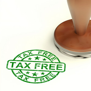 Tax Free Stamp Shows No Duty Or Untaxed Shopping