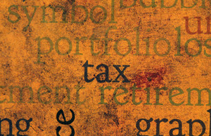 Tax Text On Grunge Background