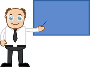 Teacher Showing Board - Business Cartoons Vectors