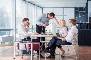Team of business people working in an office