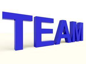 Team Text As Symbol For Teamwork And Partnership