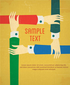 Teamwork Concept (editable Text)