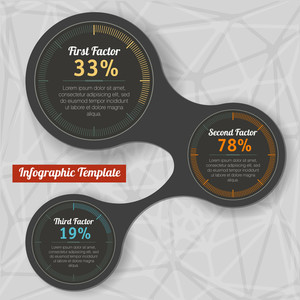 Technical And Information Indicators. Vector Infographics Design Element Set.