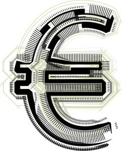 Technological Font Euro Symbol