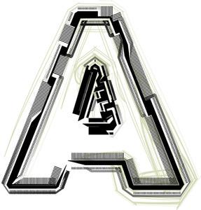 Technological Font. Letter A
