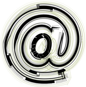 Technological Font Symbol