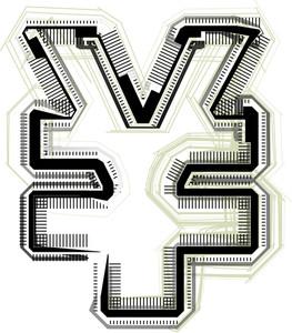 Technological Font Yen Symbol