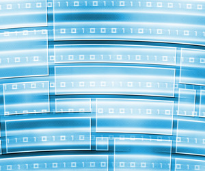 Technology Abstraction Blue Texture