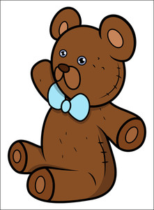Teddy Bear - Cartoon Vector Cartoon Illustration