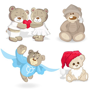 Teddy Bears Vectors