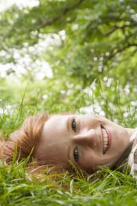 Teenage girl in park