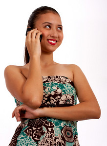 Teenage Girl Talking On Her Telephone