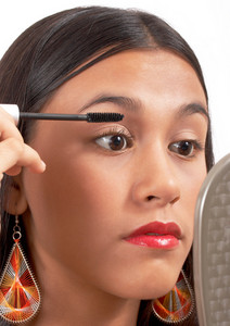 Teenager Applying Mascara