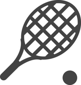 Tennis Racket Glyph Icon