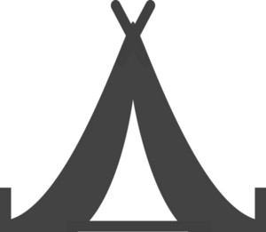 Tent Glyph Icon