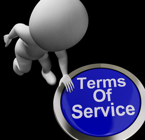 Terms Of Service Button Shows Websites Agreement And Conditions