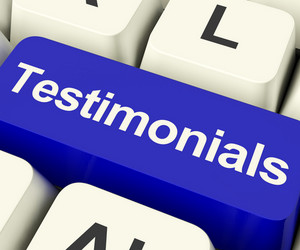 Testimonials Computer Key Showing Recommendations And Tributes Online