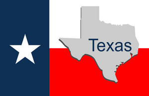 Texas State Flag & Map
