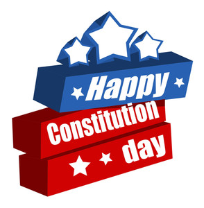 Text  Constitution Day Vector Illustration