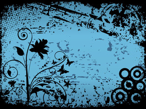 Texture Background With Black Floral Pattern