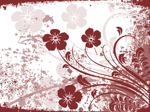 Texture Background With Brown Floral