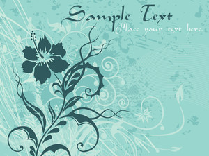 Texture Background With Floral Design