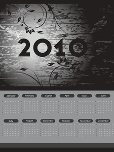 Texture Background With Floral Pattern Calender