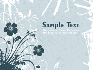 Texture Background With Floral Pattern