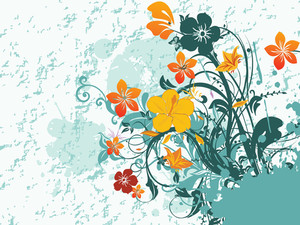 Texture Background With Flower Pattern