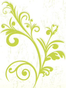 Texture Background With Green Floral