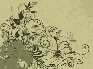 Texture Background With Grungy Floral