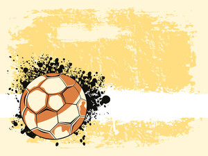 Texture Background With Grungy Rugby Ball