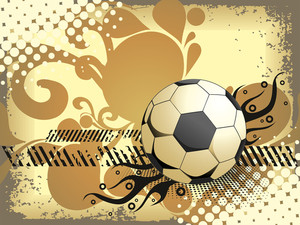 Texture Background With Isolated Football