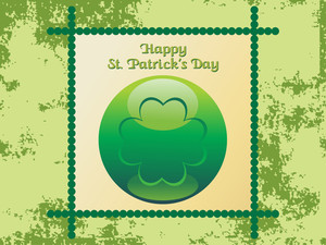 Texture Background With Patrick Day Icon