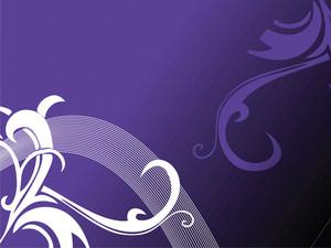 Texture Flower Corner With Elements In Purple